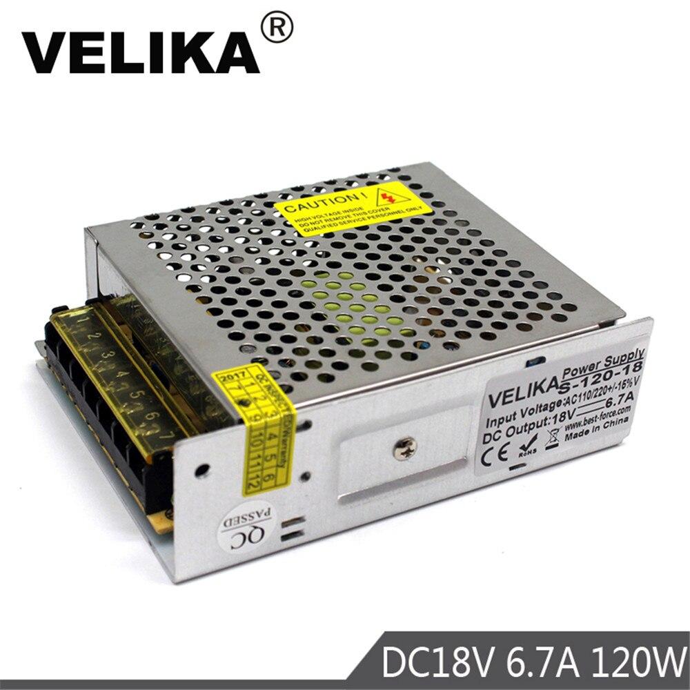 Interruptor de fuente de alimentación Variable DC18V 6.7A 120W fuente de alimentación Led transformador AC DC Convertidor para CNC CCTV Motor paso a paso