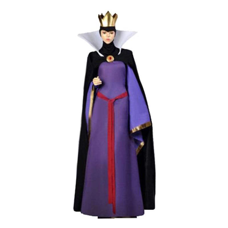 Blancanieves reina malvada Stepmother traje Halloween disfraz adulto + corona gratis
