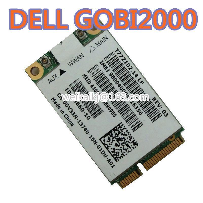 Para dell dw 5620 dw5620 gobi2000 un2420 3g wwan cartão sem fio gsm/gprs/umts/hsd (u) pa desbloqueado 7.2 mbps