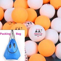 Профессиональные мячи для настольного тенниса, 3 звезды, 100 шт., 40 +, новый материал, мячи для настольного тенниса, 40 мм, 2,8 г, белый, оранжевый, ABS пластик