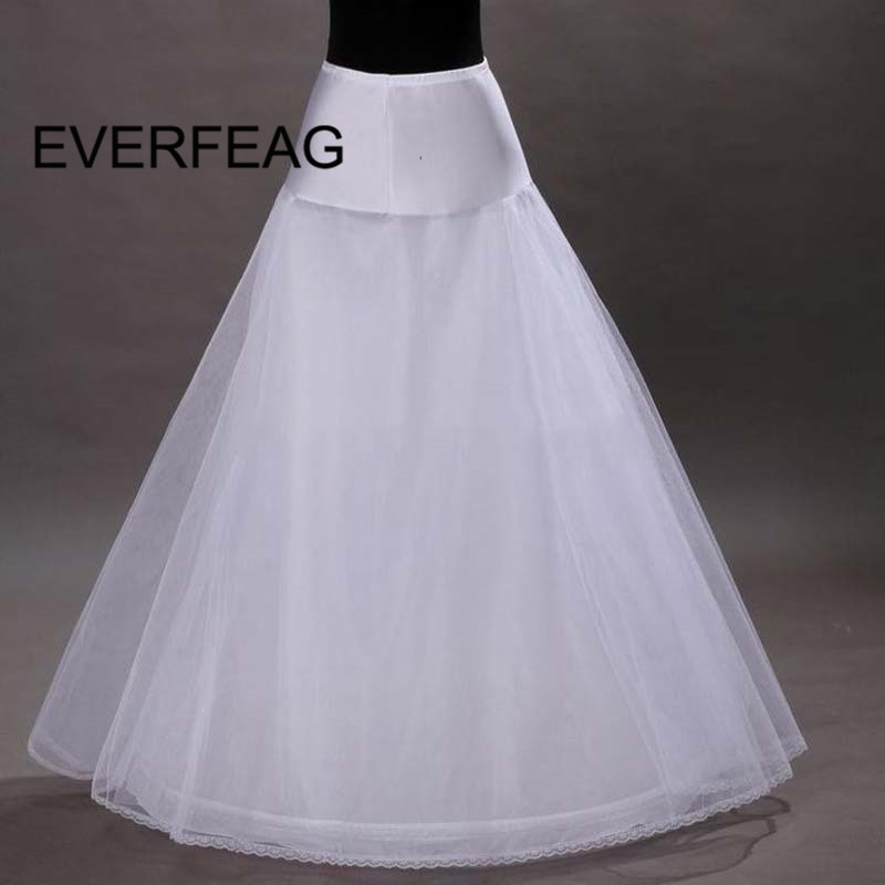 2020 100% High Quality A Line Tulle Wedding Bridal Petticoat Underskirt Crinolines for Long Wedding Dress