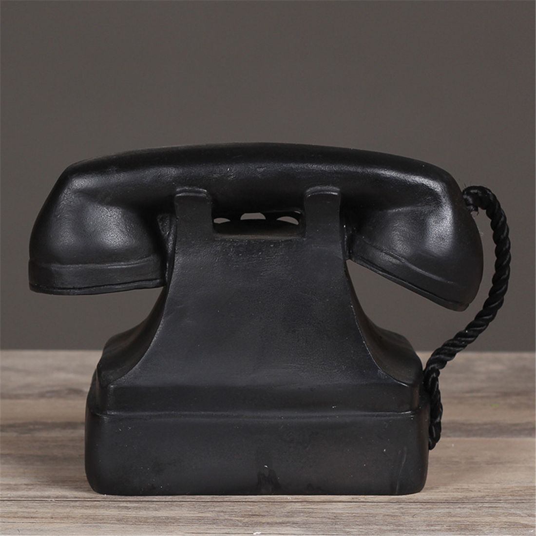 Adornos de artesanía de resina Retro para fotografía utilería retro sucio para hacer el viejo teléfono de línea fija decoración de muebles de oficina