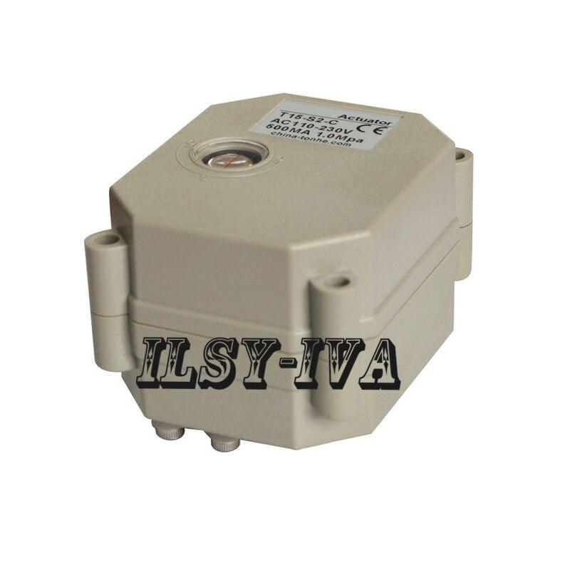 Actuador de alto Torque 9 ~ 24vac/vdc 110 ~ 230vac/vdc, actuador eléctrico de válvula de bola NO NC con indicador de posición