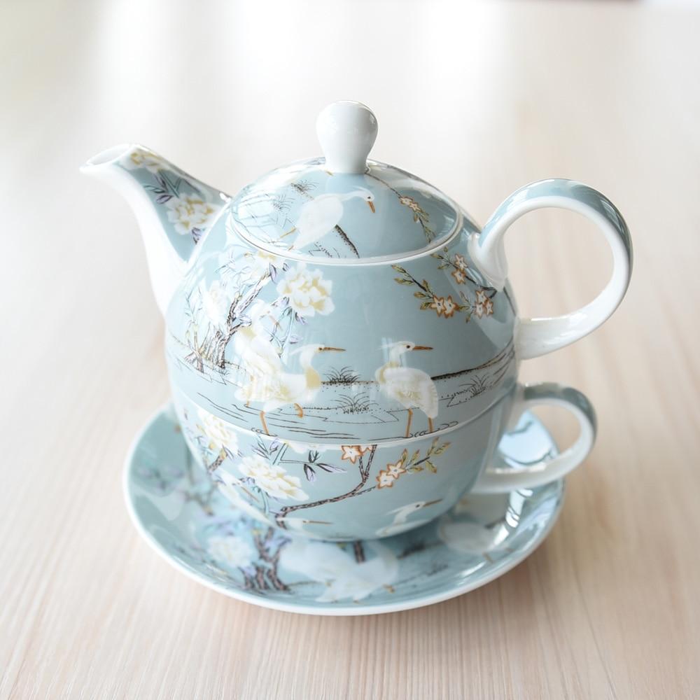 Porcelana de Osso Chá da Tarde Britânico Conjunto Único Copo Pote Bule Prato Clássico Cerâmica Chá