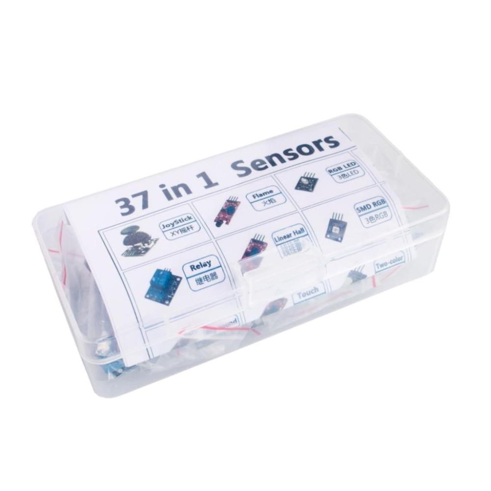 Набор датчиков 37 в 1 для начинающих Arduino, хорошее качество, низкая цена