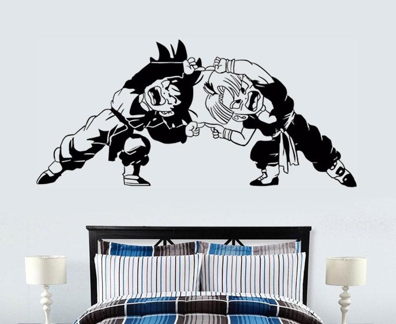 Dragon Ball Z (DBZ) Royal Palace TRUNKS ANIME surface sticker, vinyl wall sticker, home living room, boy bedroom decoration DM14