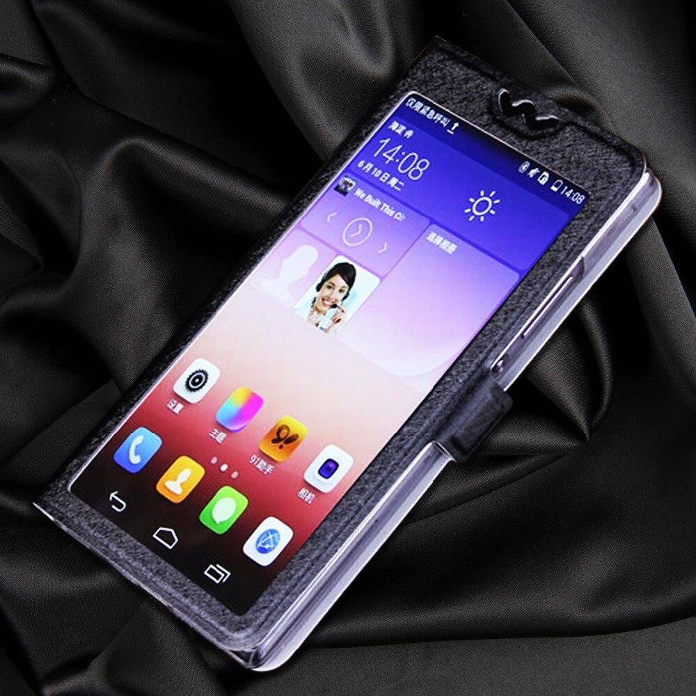 Funda transparente de lujo con ventana de visualización para Samsung J320F para Samsung Galaxy J3 2016 J320 J320H J 320F