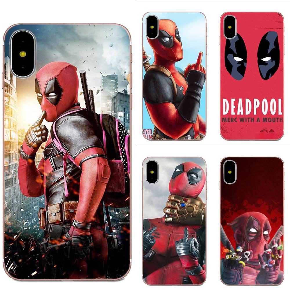 Novedades divertidas Fundas suave transparente por Xiaomi nota 3 4 Mi3 Mi4 Mi4C Mi4i Mi5 Mi 5S 5X 6 6X A1 Max mezclar 2 de héroe de Marvel Deadpool