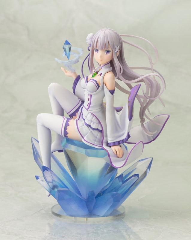 18cm ReZero kara Hajimeru Isekai Seikatsu Emilia Action Figure PVC Collection Model toys anime brinquedos free shipping