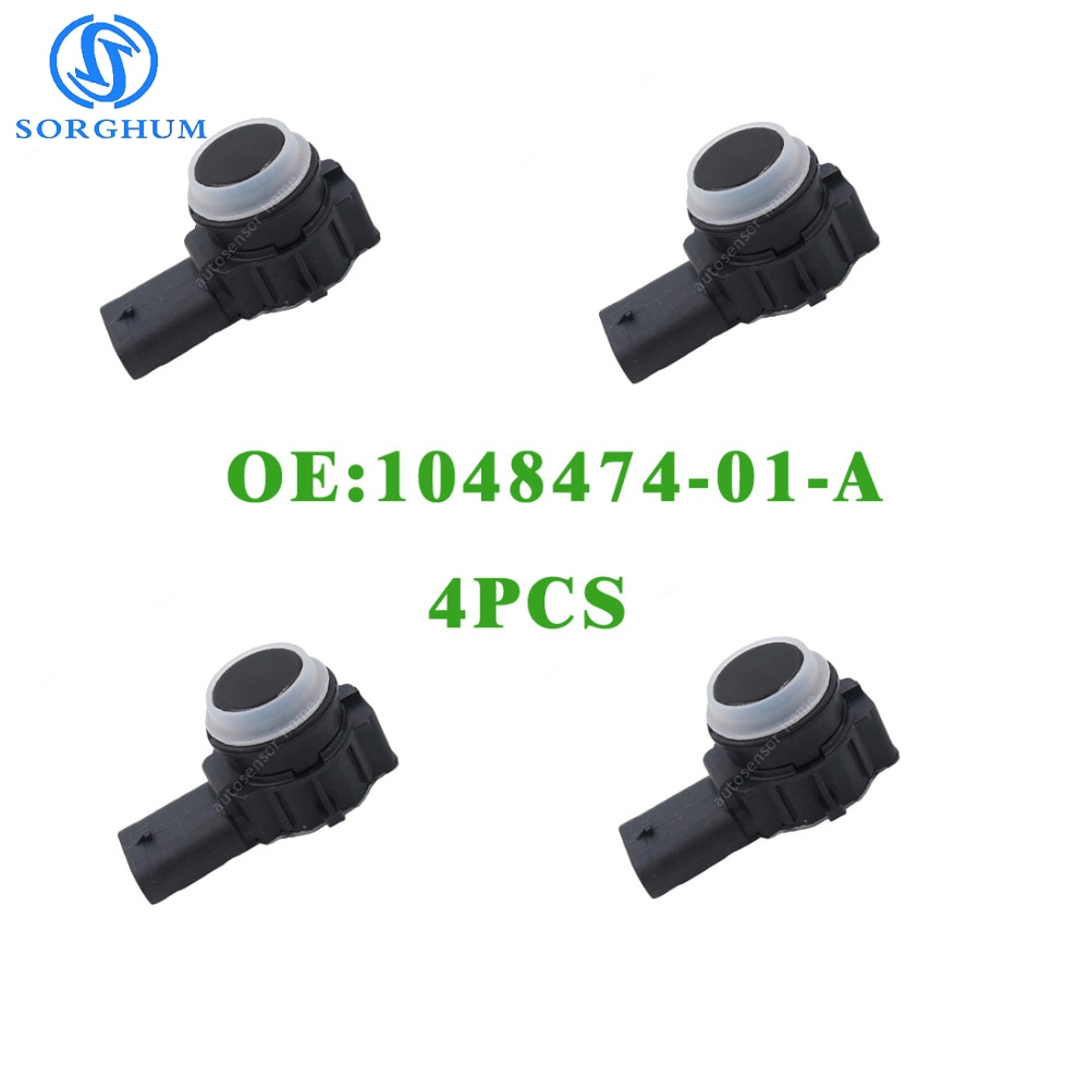 4 piezas nuevo 1048474-01-A aparcamiento PDC distancia Sensor de Control de 12-15 Telsa S eléctrico