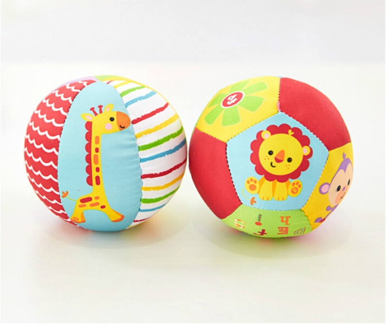 New Baby Toys Animal Ball Soft Stuffed Toy Balls Baby Rattles Infant Babies Body Building Ball For 0