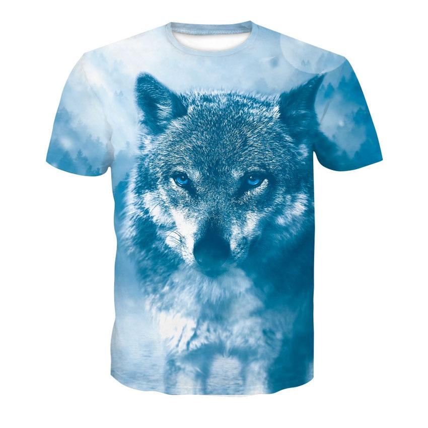 Camiseta de hombre lobo dibujo animal disfraz 3d impreso camiseta hip hop camiseta cool hombre 2019 nueva ropa de verano