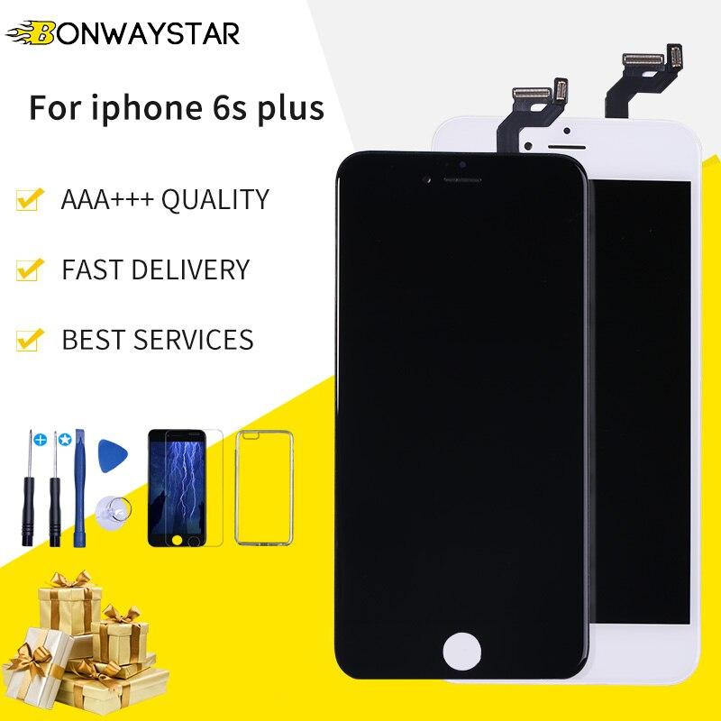 Reemplazo LCD para iPhone 6 S Plus A1634 A1687 A1699 pantalla LCD digitalizador reemplazo pantalla táctil + herramientas + caso + película