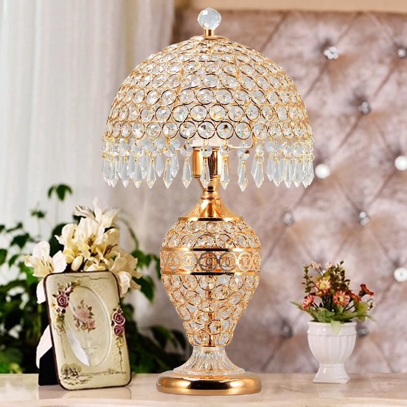 Lámpara De Mesa De cristal Para dormitorio, moderna lámpara De Chevet Abajur...