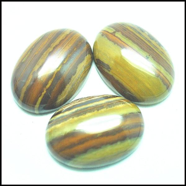 Marrón natural de Joya de cuentas piedras cabujón cuentas taxis no agujero forma oval 18x25mm nuevo jasperr agatee colgantes de piedra que
