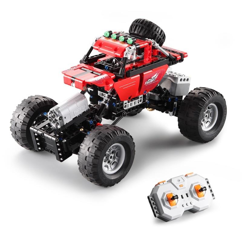 Funny Electric  Remote Control Car Climb Buggy 2.4G Double Mode DIY Bricks Toys RC Building Block Car Off-Road Climbing Car toy enlarge