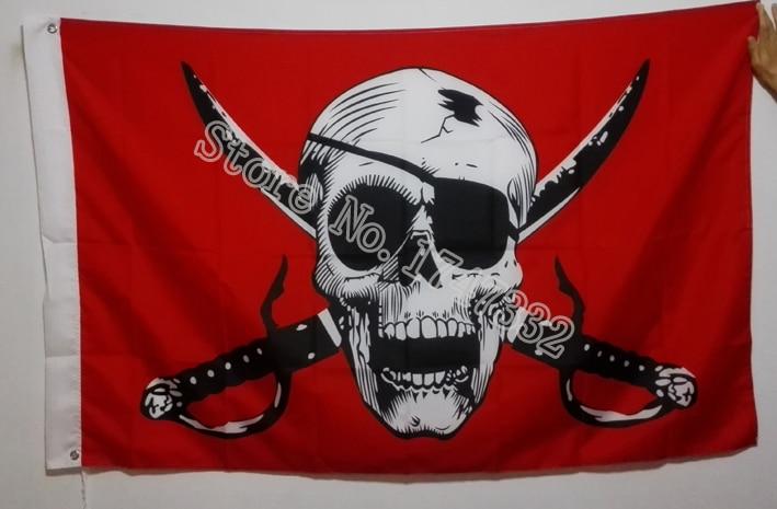 Cross Crossbones Jolly Roger Pirate Flag  3X5FT 150X90CM Banner brass metal holes