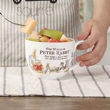 Tasse à café en céramique lapin de dessin animé   Grande tasse à lait créative tasse à thé en porcelaine, personnalisée belle tasse 700ml