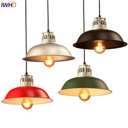 IWHD Retro Vintage Pendant Light Fixtures Loft Style Iron Industrial Lamp Kitchen Dining Hanglamp Home Lighting Luminaire