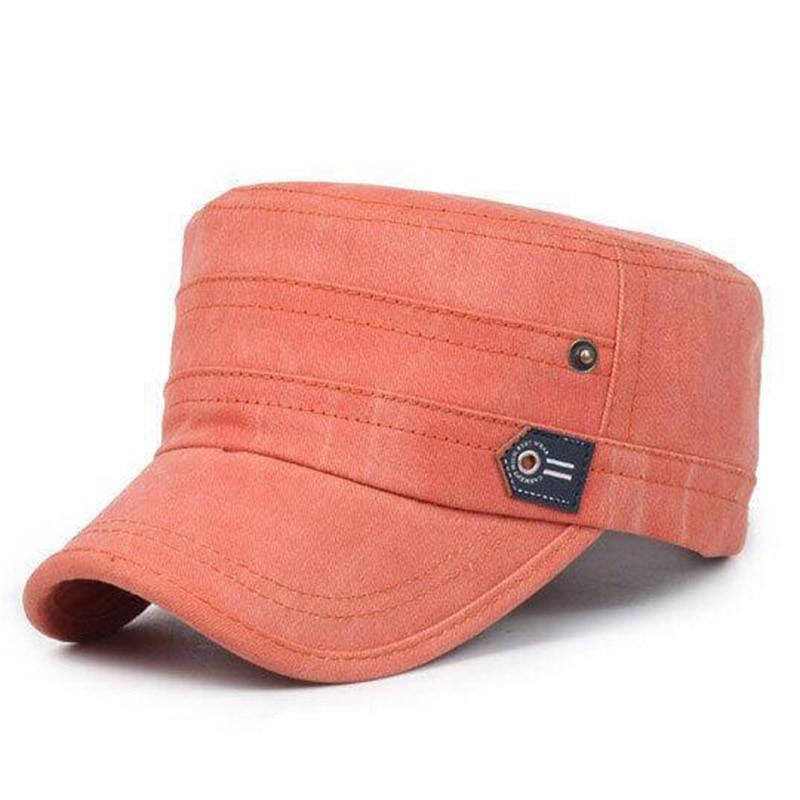 2018New Summer Cotton Cap Men Women Army Hat Flat Top Hats Washed Bone Snapback High Qualiy Baseball Caps Dad Hat