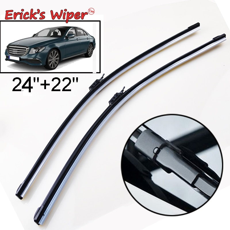 Передние щетки стеклоочистителя Ericks LHD для Mercedes Benz E-Class W213 S213 2016-2019, лобовое стекло, переднее стекло, 24 дюйма + 22 дюйма