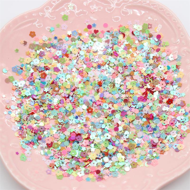 Kscraft 3mm 4000 pçs misturado colorido lantejoulas pvc plana para diy cartão que faz a coleção da cor do ofício