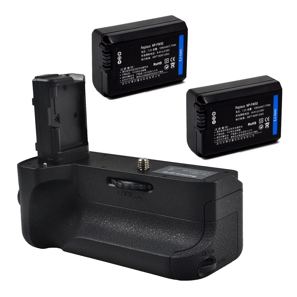 Kit de agarre de batería JINTU + mando a distancia IR + 2 uds NP-FW50 para SONY A7II A7RII A7SII cámara sin espejo DSLR BG-3EIR