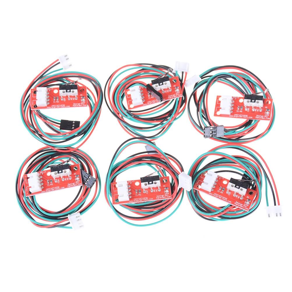 6 pièces/ensembles câbles mécaniques limite de butée finale pour le commutateur de CNC de rampes dimprimante 3D butée finale