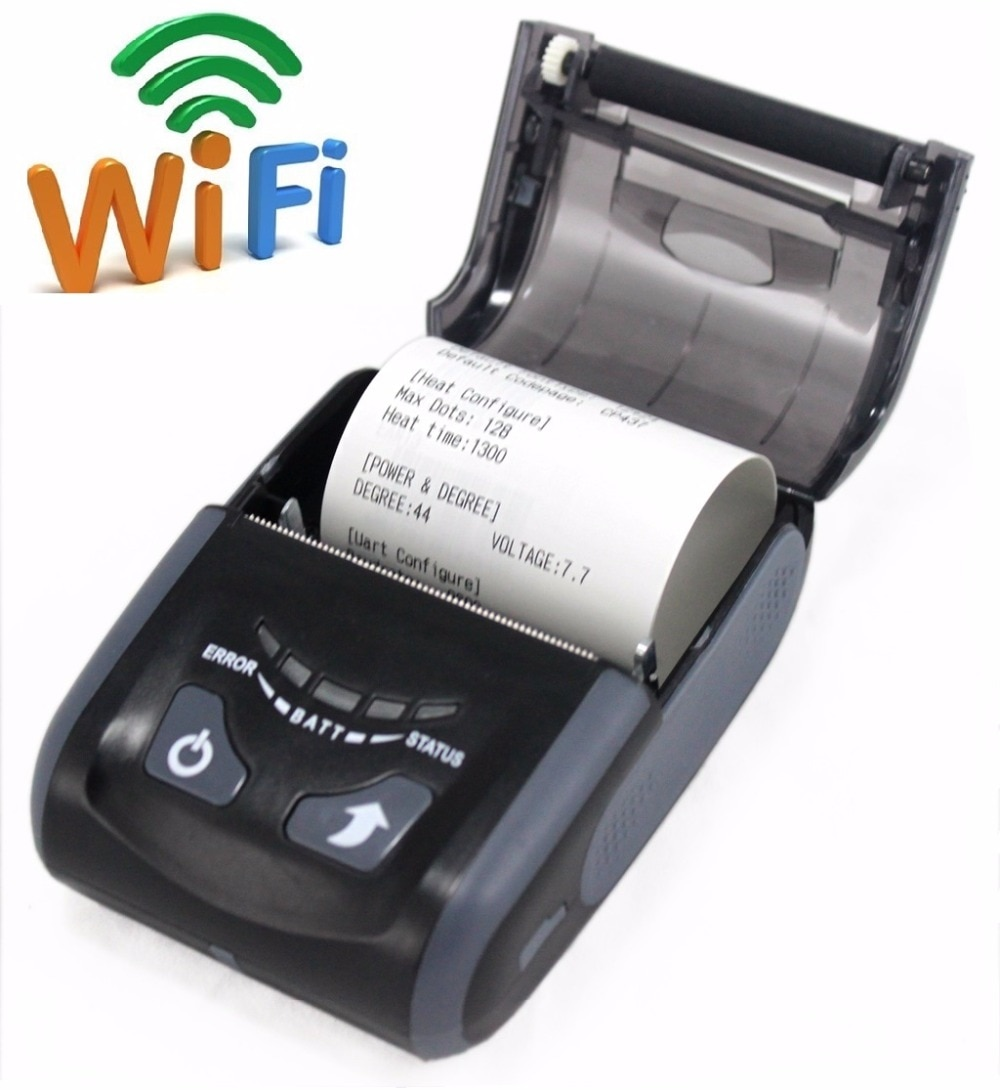 Impresora térmica LS200WU, Color negro, precio económico, Mini impresora, impresora WIFI