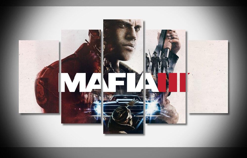 6966 mafia 3 mafia III juego pistola wallpapersbyte poster enmarcado galería WRAP Art Print casa pared decoración pared imagen ya
