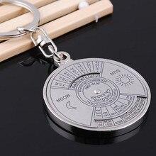 Porte-clés avec calendrier perpétuel 50 ans, boussole Unique en métal, cadeau, outil multi pour le Camping et la randonnée, 2010 à 2060