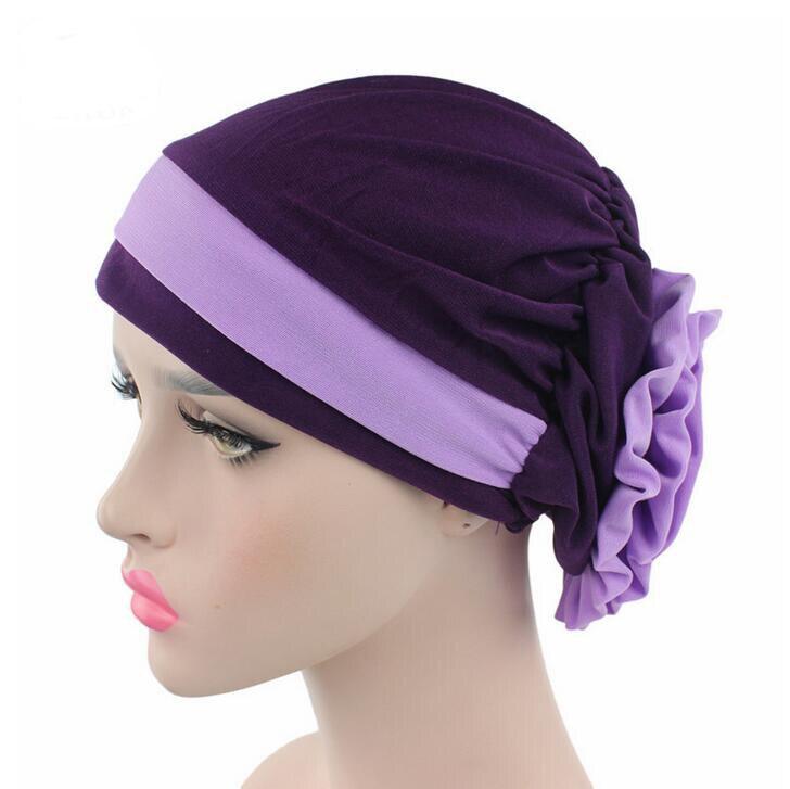 2017 новые женские головные уборы, женские индийские шапки бини, тюрбан с цветком, шапки Skullies, аксессуары для волос, бандана, шляпы для химиоте...
