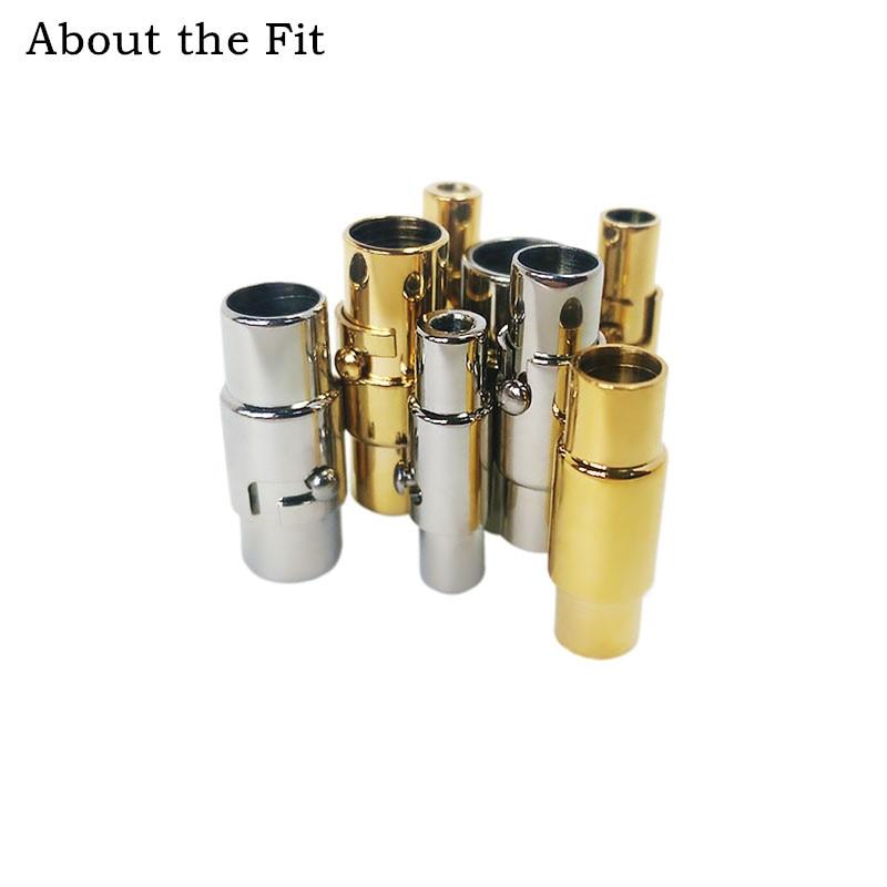 Acerca del ajuste 2-6mm 100 Sets 316L Acero inoxidable hebillas de cierre conectores collar pulsera elaboración hallazgos ganchos al por mayor