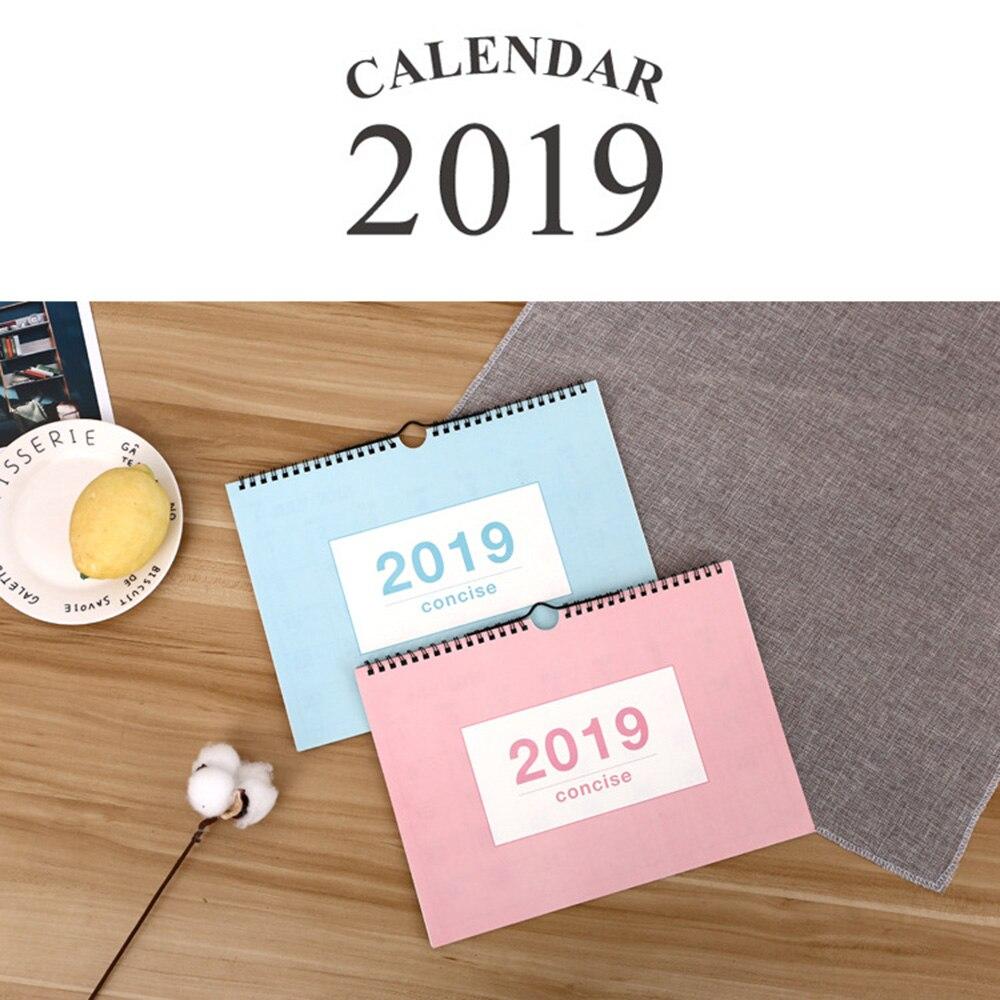 Многофункциональный настенный календарь на 2019 год, Еженедельный планировщик, ежемесячный Органайзер на стол, календарь, расписание, стол, к...