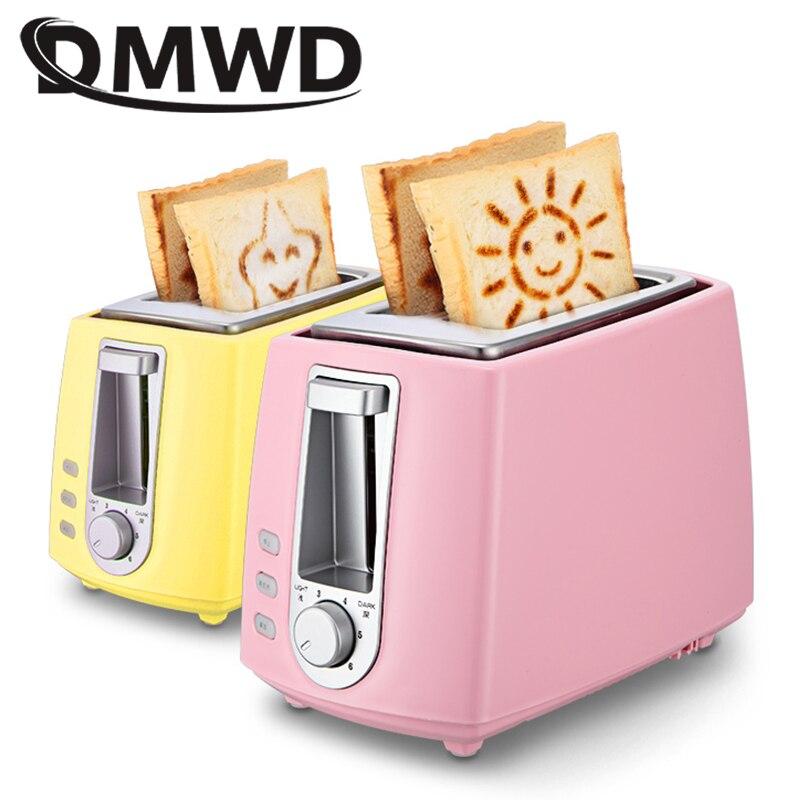 DWMD электрический тостер из нержавеющей стали Бытовая Автоматическая машина для выпечки хлеба машина для завтрака тост Сэндвич Гриль духов...