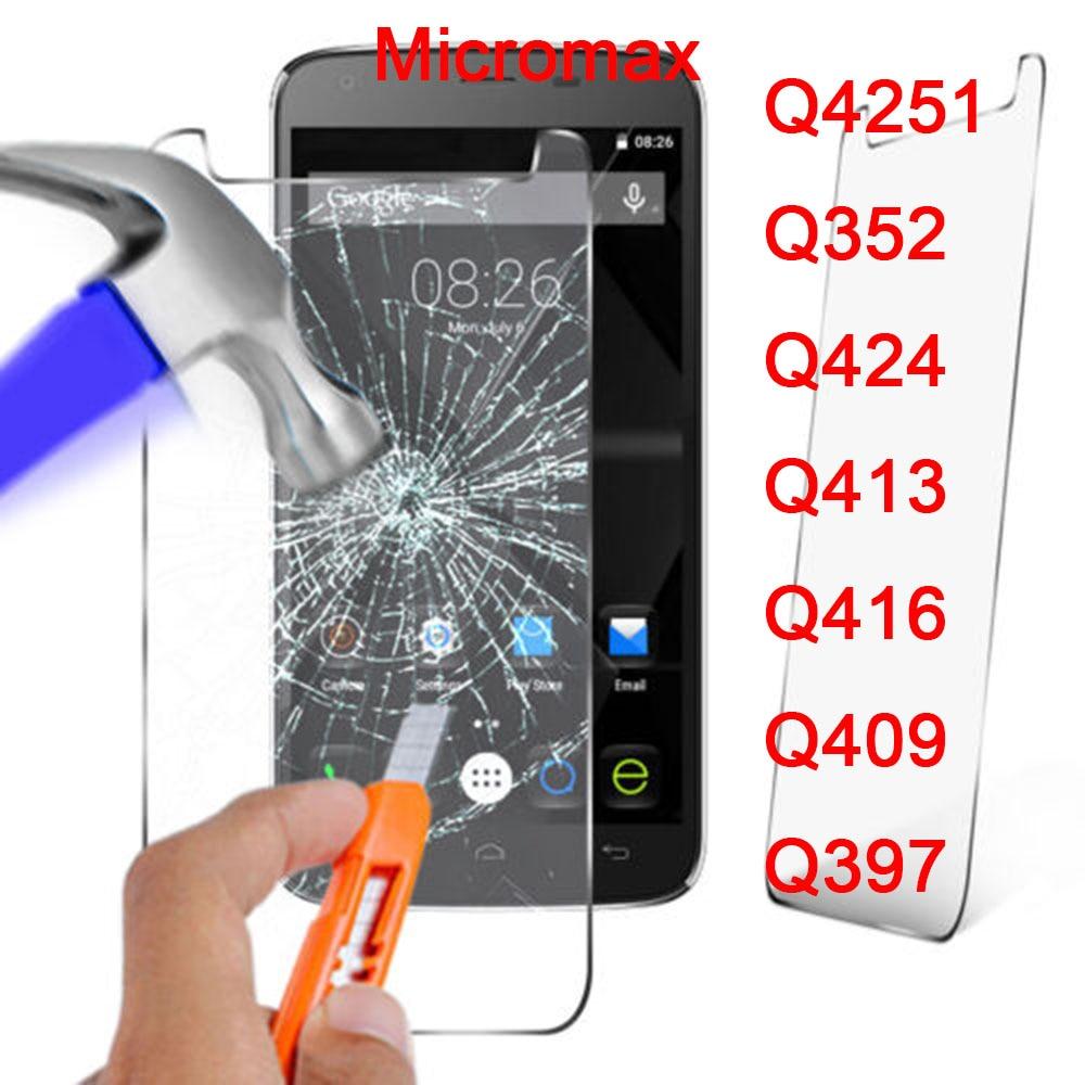 2.5D 0.26mm 9H Premium Tempered Glass For micromax Q4251 Q352 Q424 Q413 Q416 Q409 Q397 Screen Protector
