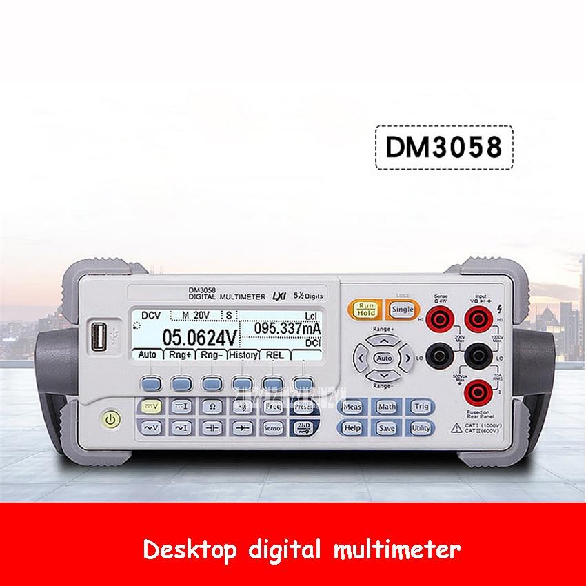DM3058 Desktop Digital Multimeter Professional High Precision Bench Top Multimeter 5.5-Digit LCD Digital Multimeter 100-230V 30W