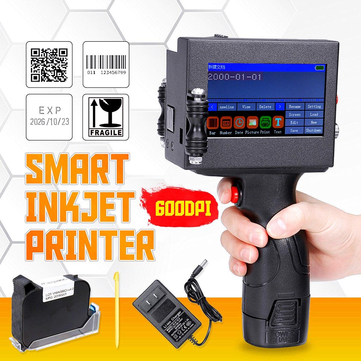 Led-anzeige Bildschirm Touch-Bildschirm Handheld Drucker Intelligente USB QR Code Inkjet Label Drucker Codierung Maschine Neue Ankunft 2019