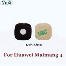 Yuxi 1 pcs 화웨이 g8 maimang 4 d199 새로운 후면 카메라 유리 렌즈 커버 수리 부품