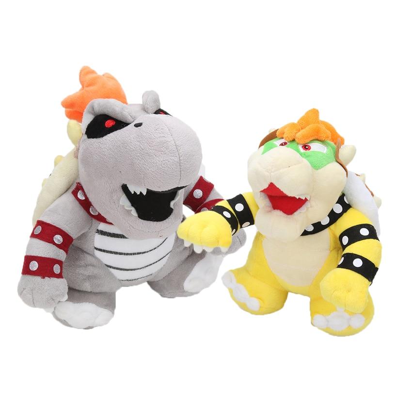 Super Mario Bros 3D Land Bone Kuba dragon Bolster плюшевые Сухие Кости Sanei Bowser Koopa мягкие плюшевые куклы игрушка