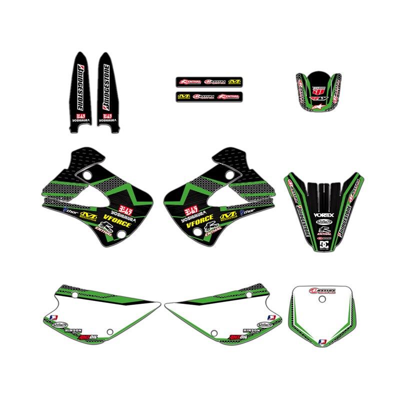 AliExpress - GRAPHICS & BACKGROUND DECAL STICKER Kit  for Kawasaki KX85 KX100 1998-2012 2011 2010 2009 2008 2007 2006 2005 2004 KX 85 100