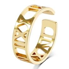 3UMeter personnalisé chiffres romains anneau personnalisé bijoux or rempli numéros personnalisés empilement Engagement promesse anneau pour cadeau