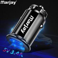 Marjay 3.4A LED Dual adaptador de cargador de coche USB cargador rápido de coche cargador de teléfono del coche para Xiaomi mi9 Samsung S9 iPhone x 7 Tablet GPS