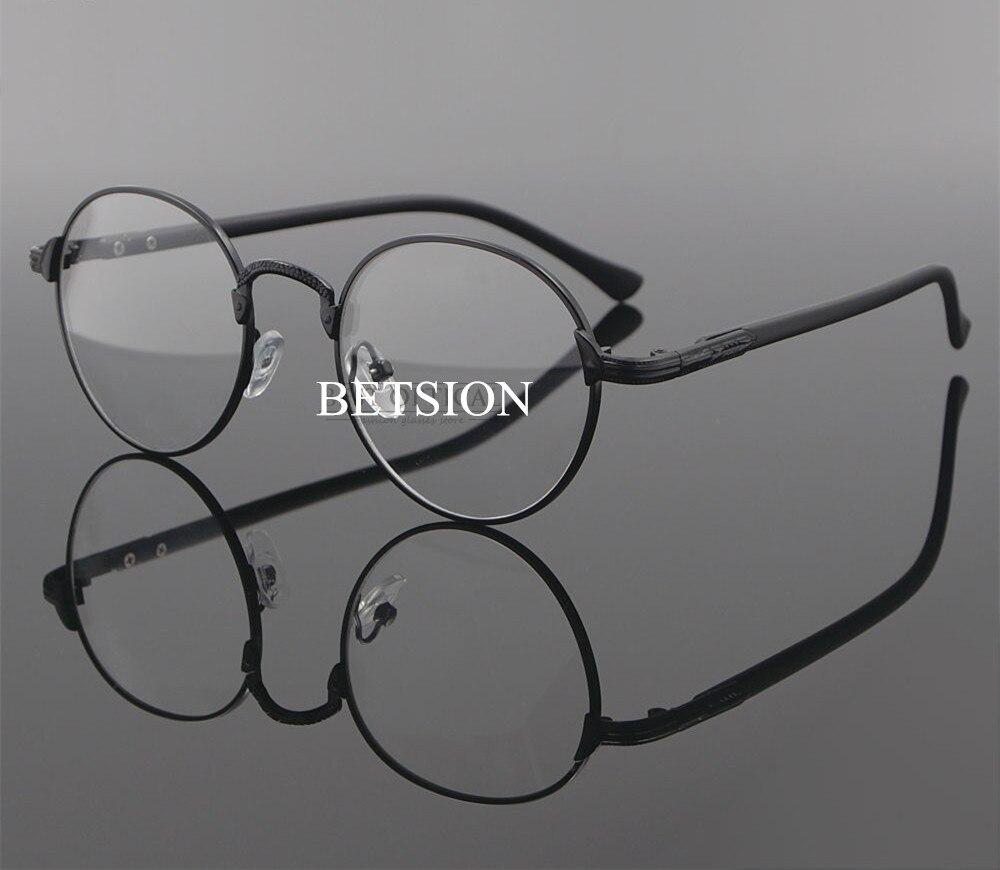 Vintage miopía poca visión Marco de gafas negro menos Metal hombre mujeres gafas-0,50-0,75-1,0-1,25-1,50-1,75-2,00
