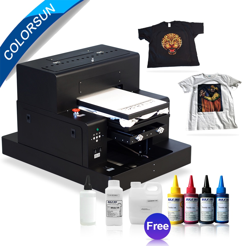 Цветная Автоматическая футболка A3, печатная машина, планшетный dtg принтер, темные джинсы, планшетный принтер L1800 с текстильными чернилами