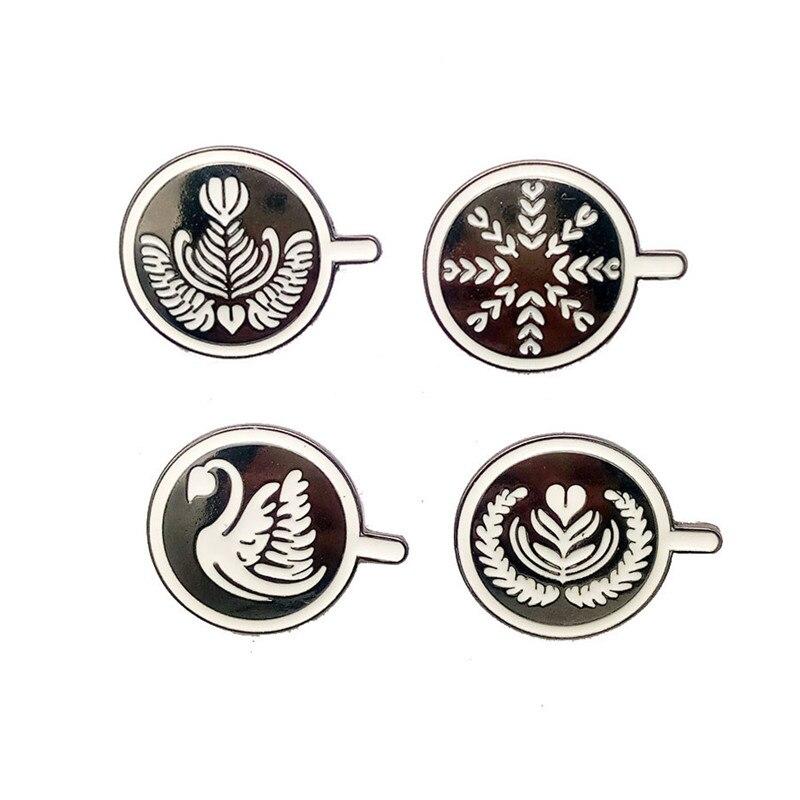 Lindas tazas de café de dibujos animados serie de cara broche Pins insignia Jeans bolsa Ropa Decoración joyería mujer regalo al por mayor