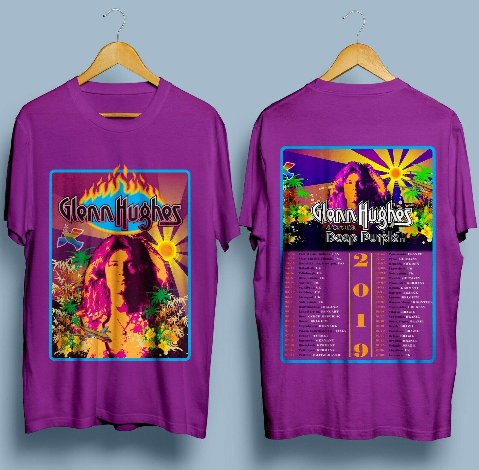 ¡Nuevo! Camiseta clásica para hombre de 2019 pulgadas de color morado profundo de GLENN Hugues S - 3XL