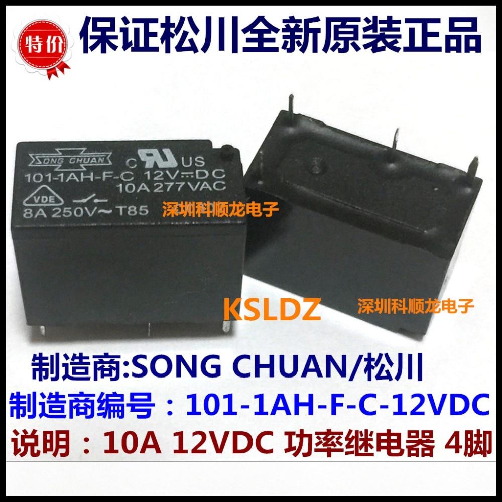 Envío Gratis mucho (10 unids/lote) 100% Original nuevo 101N-1AH-F-S-12VDC 101N-1AH-F-S 101-1AH-F-C 12VDC 4 pines 10A relé de potencia
