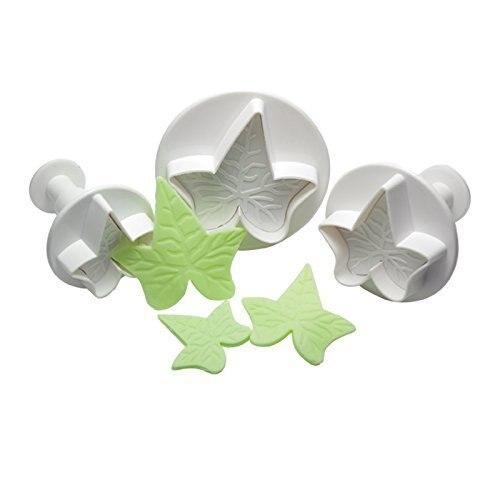 3 unids/set caramelo de fondant herramientas hiedra hoja Sugarcraft cortadores para decorar pasteles
