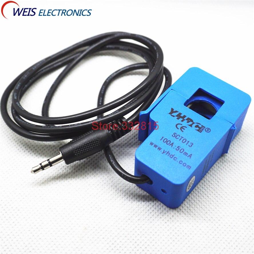 Envío gratis 1 Uds SCT-013-000 YHDC 100A de tipo de transformador de corriente SCT013000
